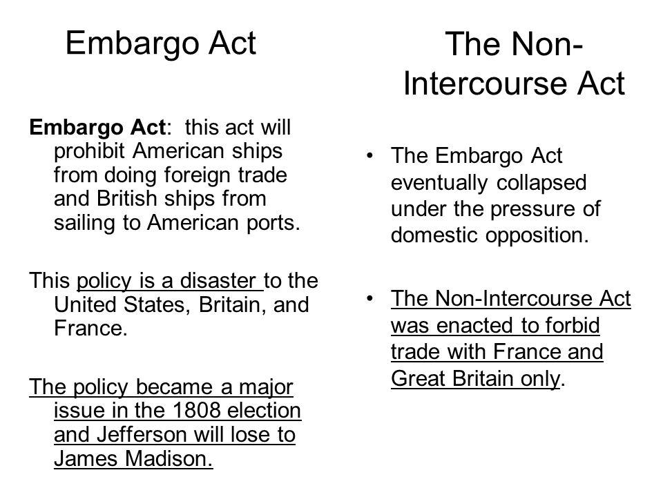 The Non-Intercourse Act