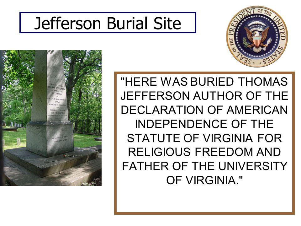 Jefferson Burial Site