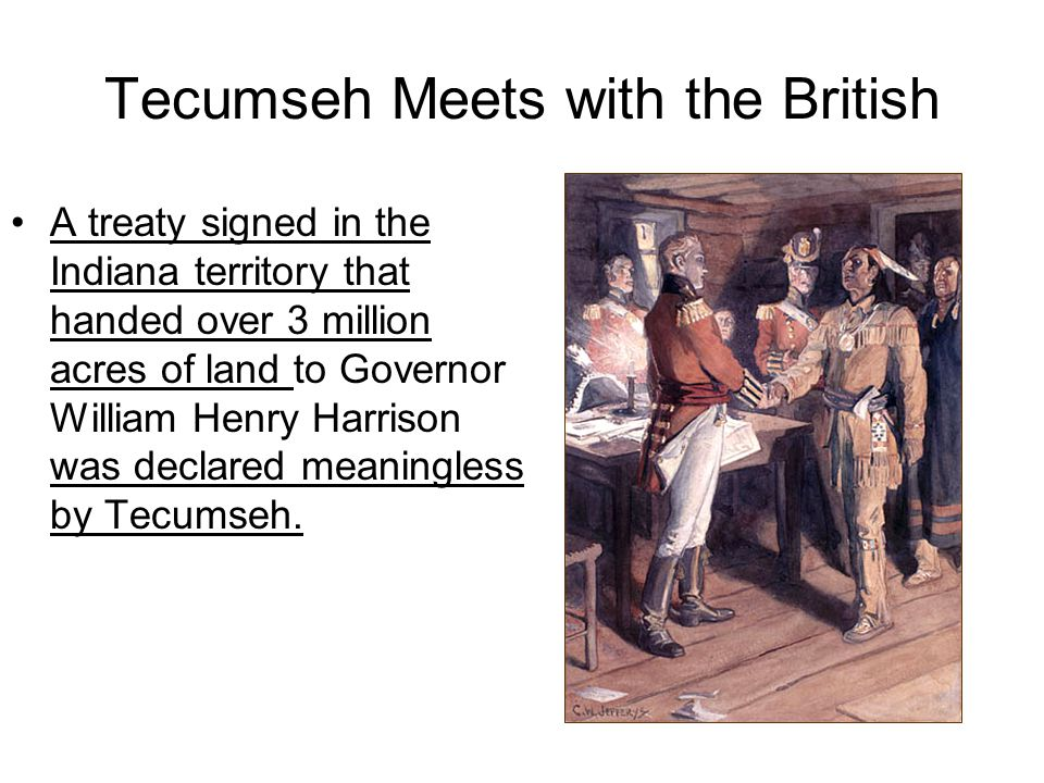 Tecumseh Meets with the British