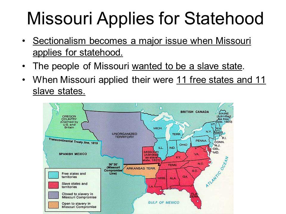Missouri Applies for Statehood