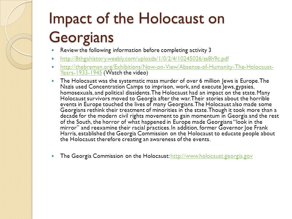 Impact of the Holocaust on Georgians