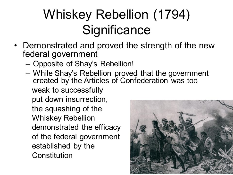 Whiskey Rebellion (1794) Significance