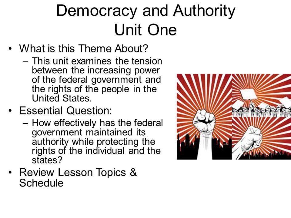 Democracy and Authority Unit One