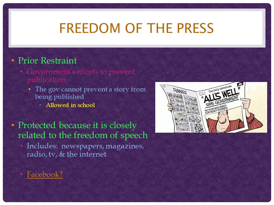 Freedom of the Press Prior Restraint
