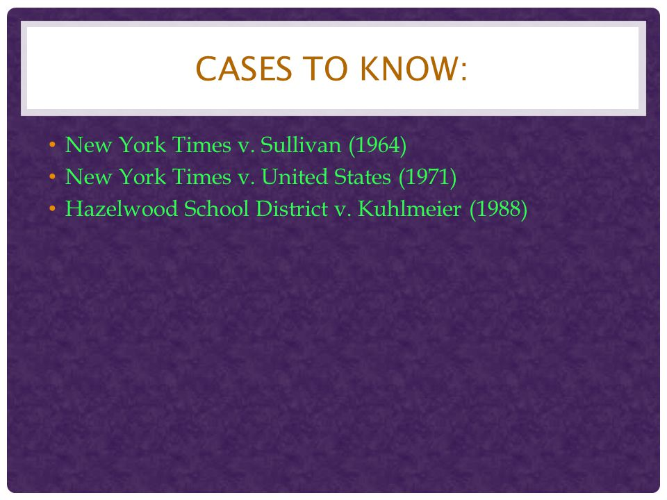 Cases to Know: New York Times v. Sullivan (1964)