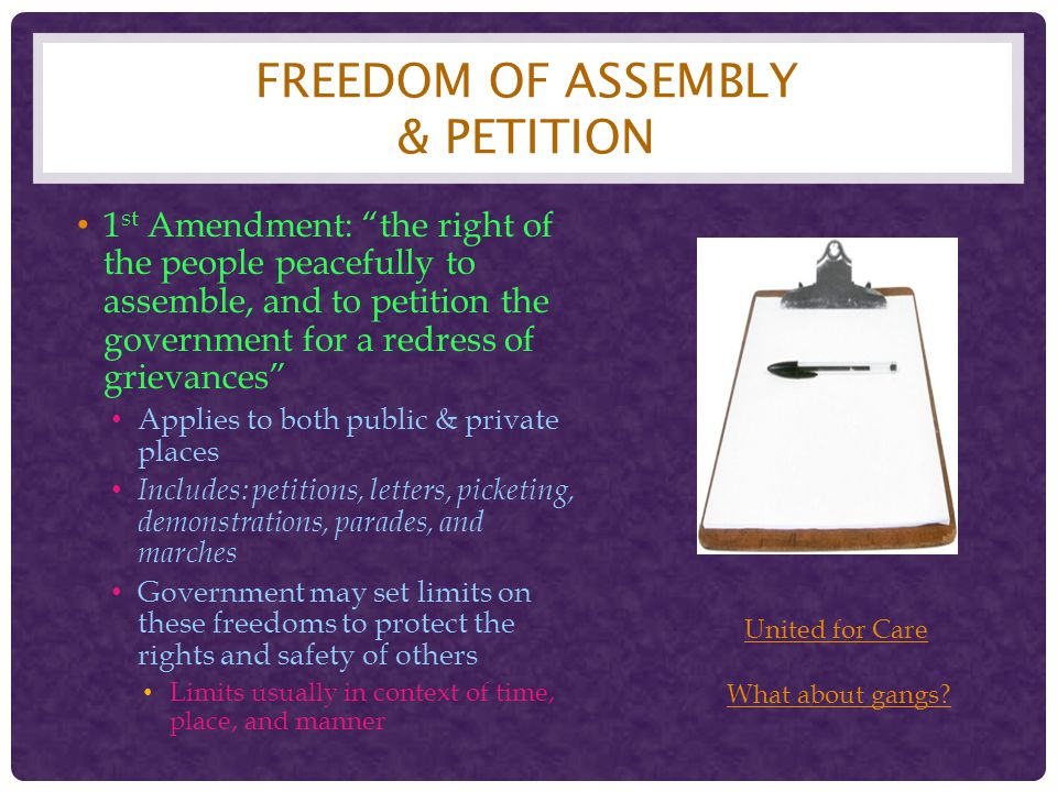 Freedom of Assembly & Petition
