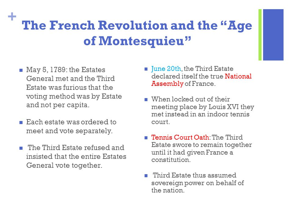 The French Revolution and the Age of Montesquieu