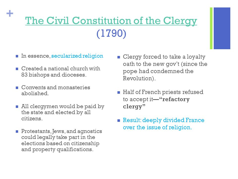 The Civil Constitution of the Clergy (1790)