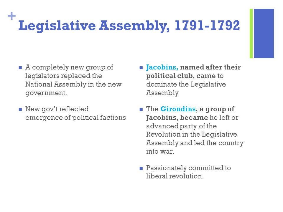 Legislative Assembly, 1791-1792