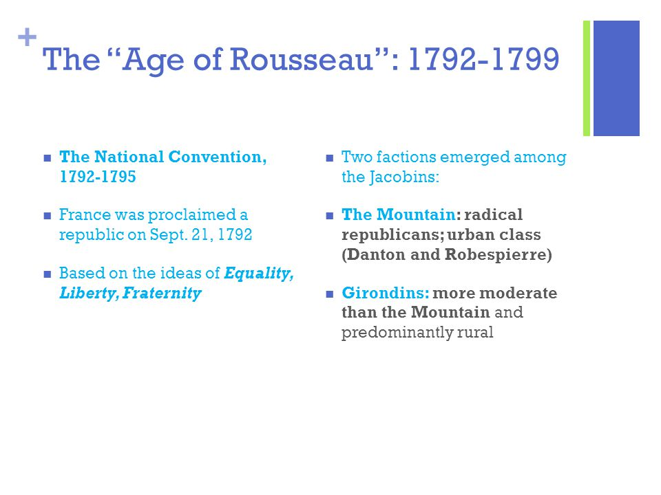 The Age of Rousseau : 1792-1799