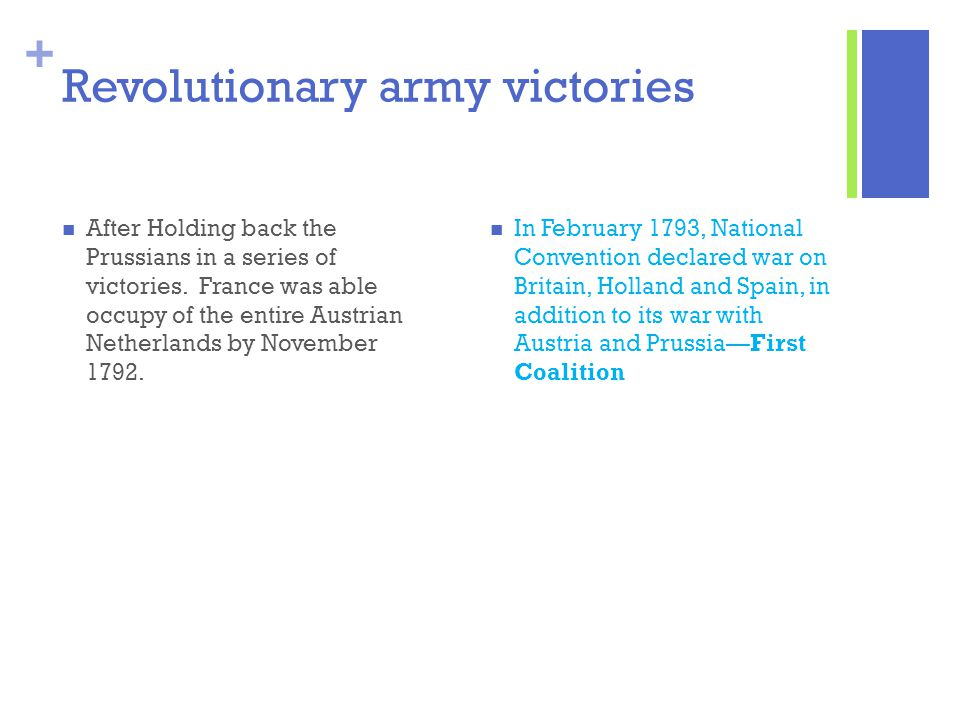 Revolutionary army victories