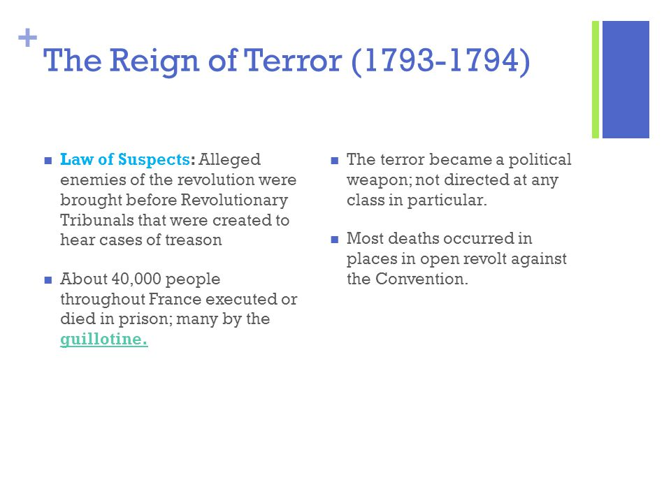 The Reign of Terror (1793-1794)