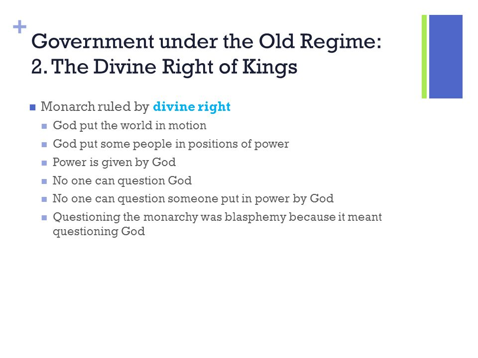 Government under the Old Regime: 2. The Divine Right of Kings