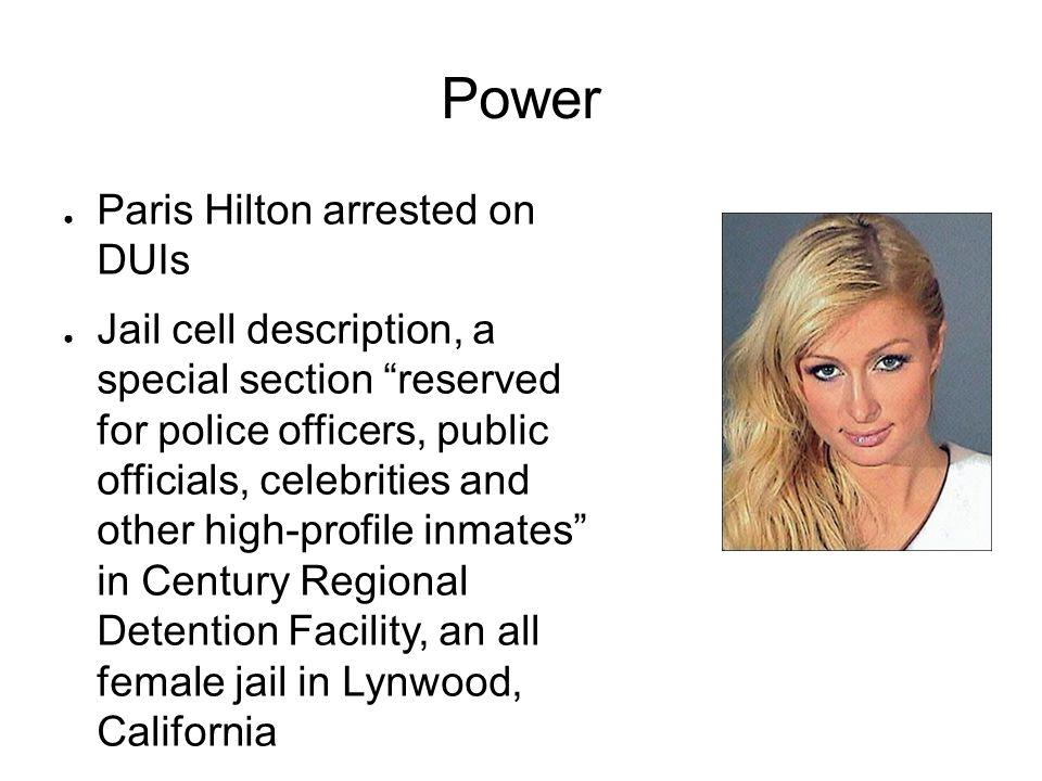 Power Paris Hilton arrested on DUIs