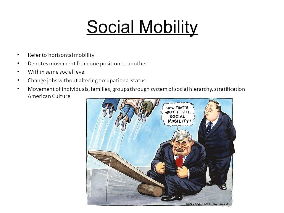 Social Mobility Refer to horizontal mobility