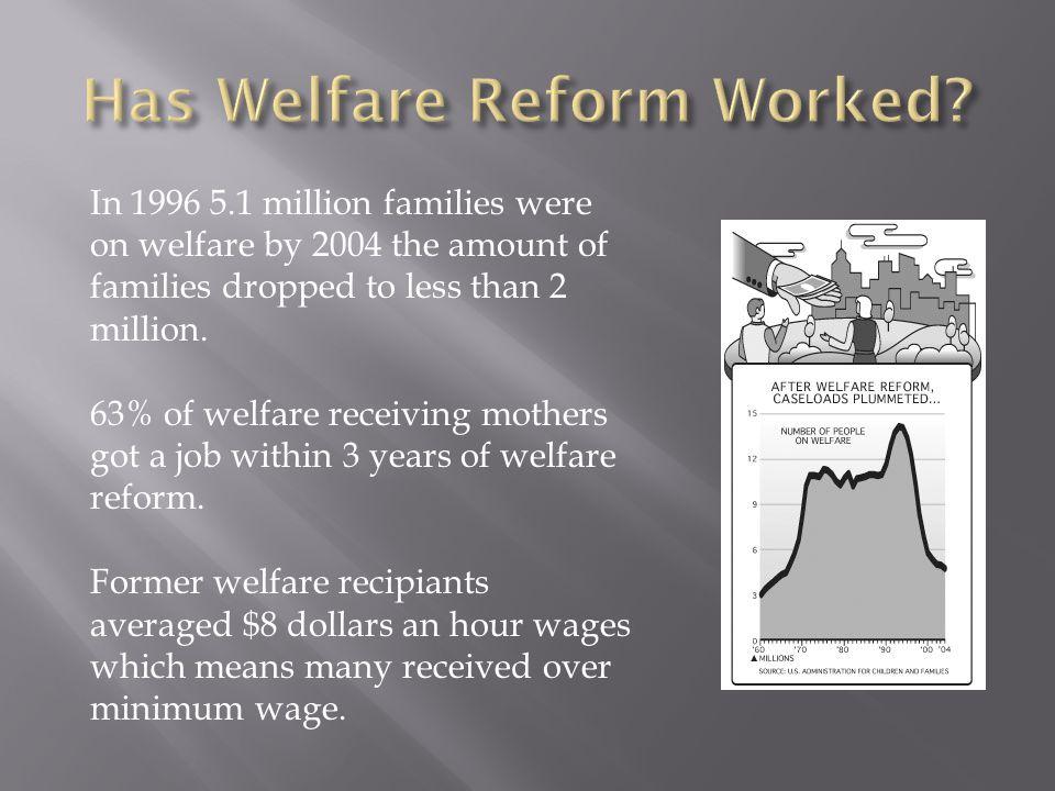 Has Welfare Reform Worked