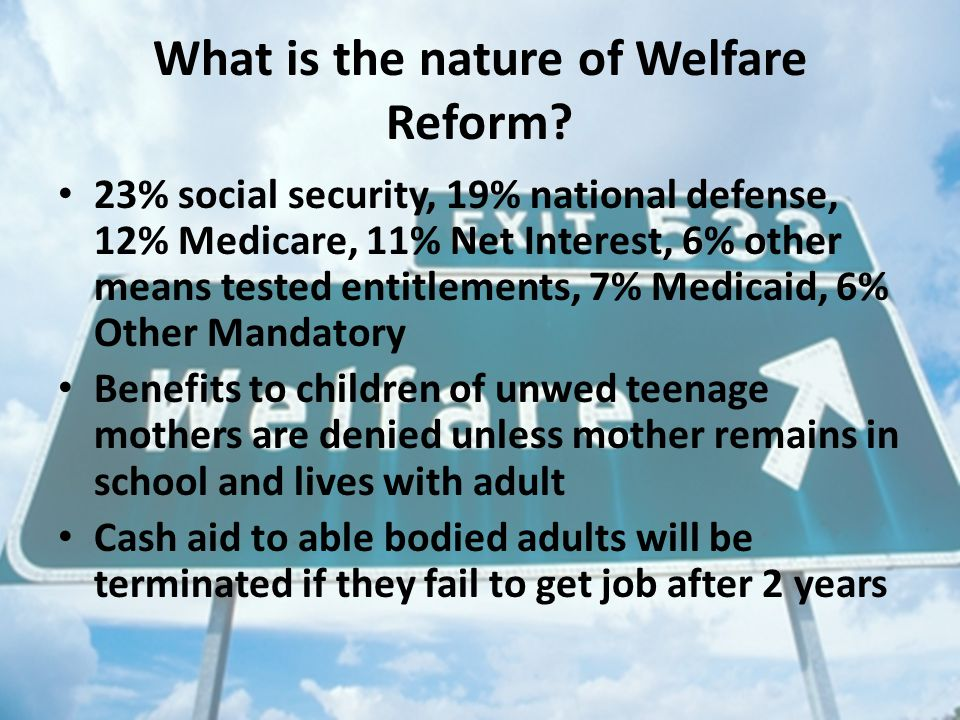 What is the nature of Welfare Reform