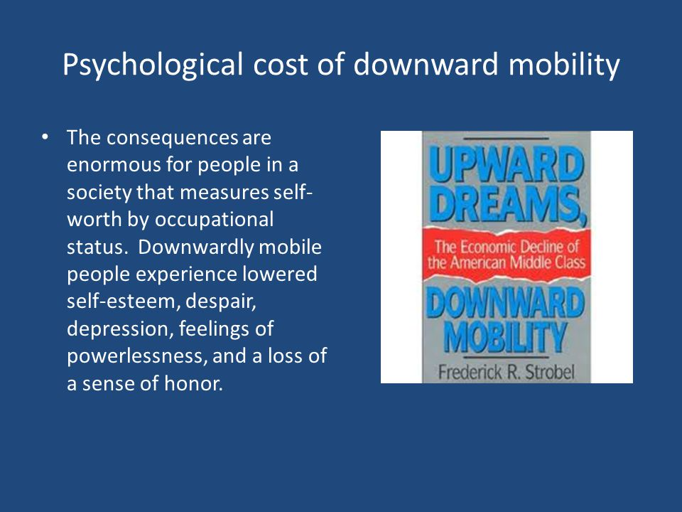 Psychological cost of downward mobility