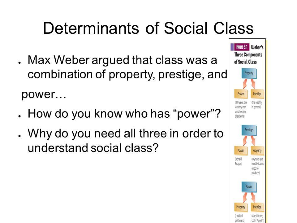 Determinants of Social Class