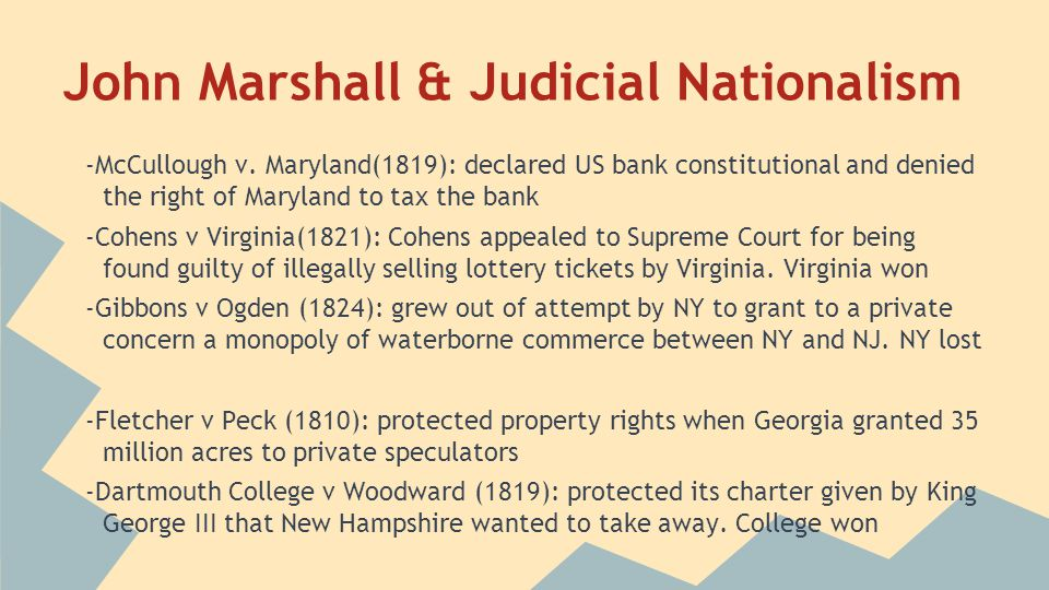 John Marshall & Judicial Nationalism