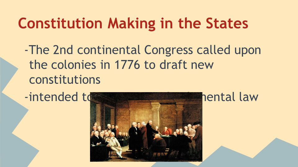 Constitution Making in the States