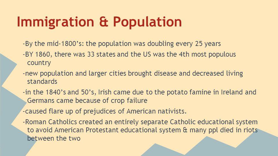 Immigration & Population