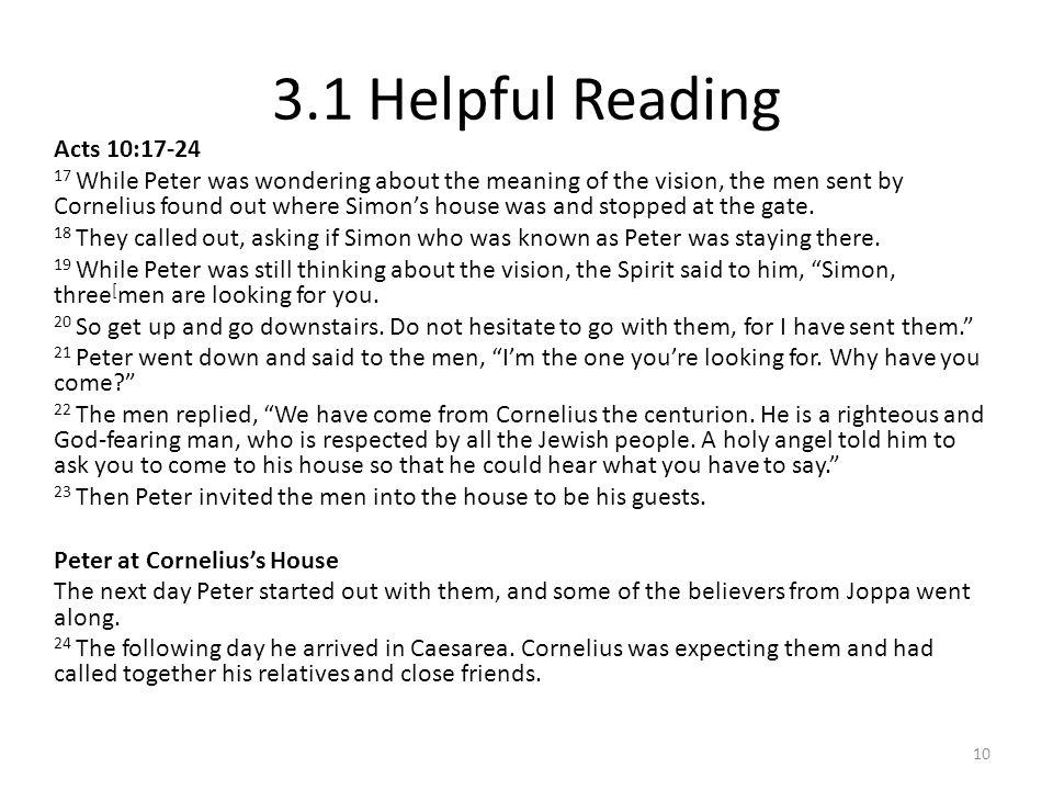 3.1 Helpful Reading