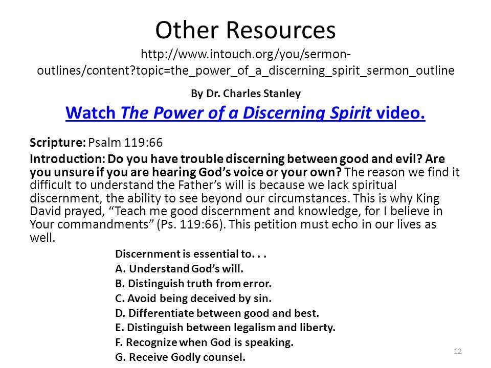 Watch The Power of a Discerning Spirit video.