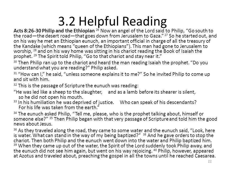 3.2 Helpful Reading