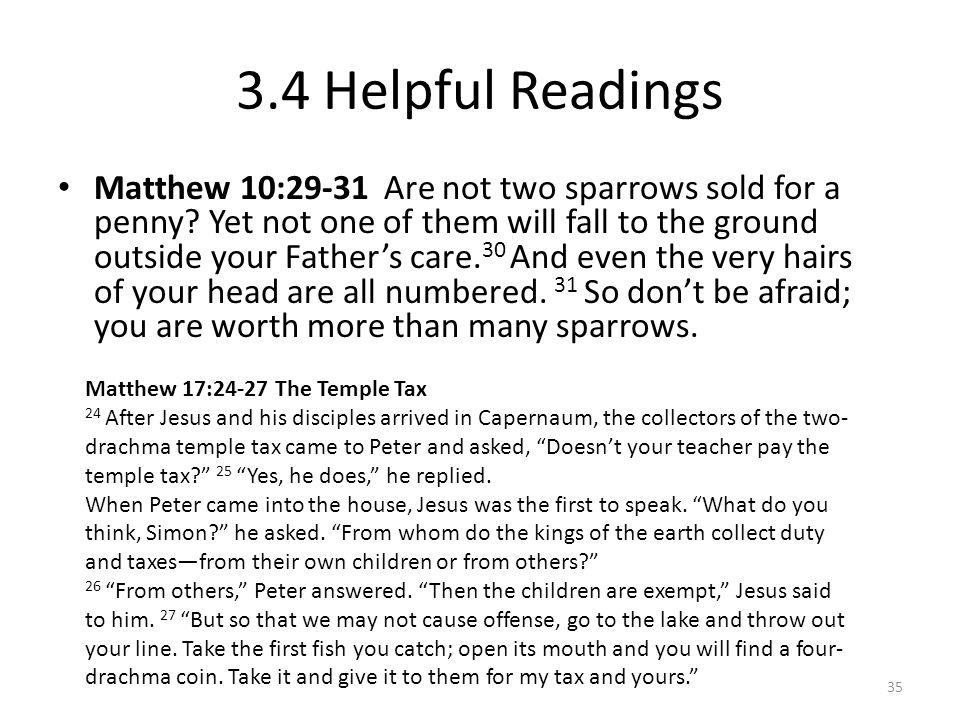 3.4 Helpful Readings