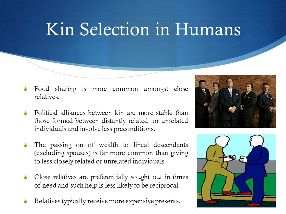 Kin Selection in Humans