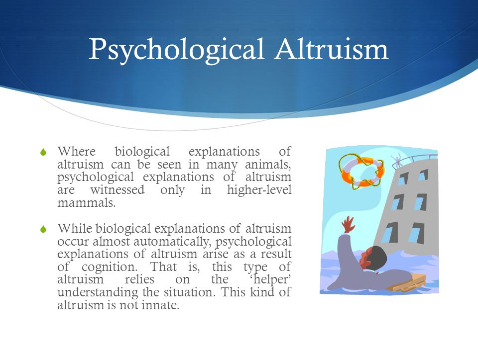 Psychological Altruism