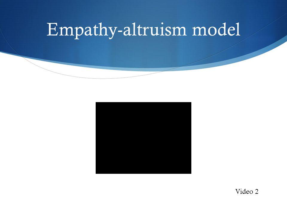 Empathy-altruism model