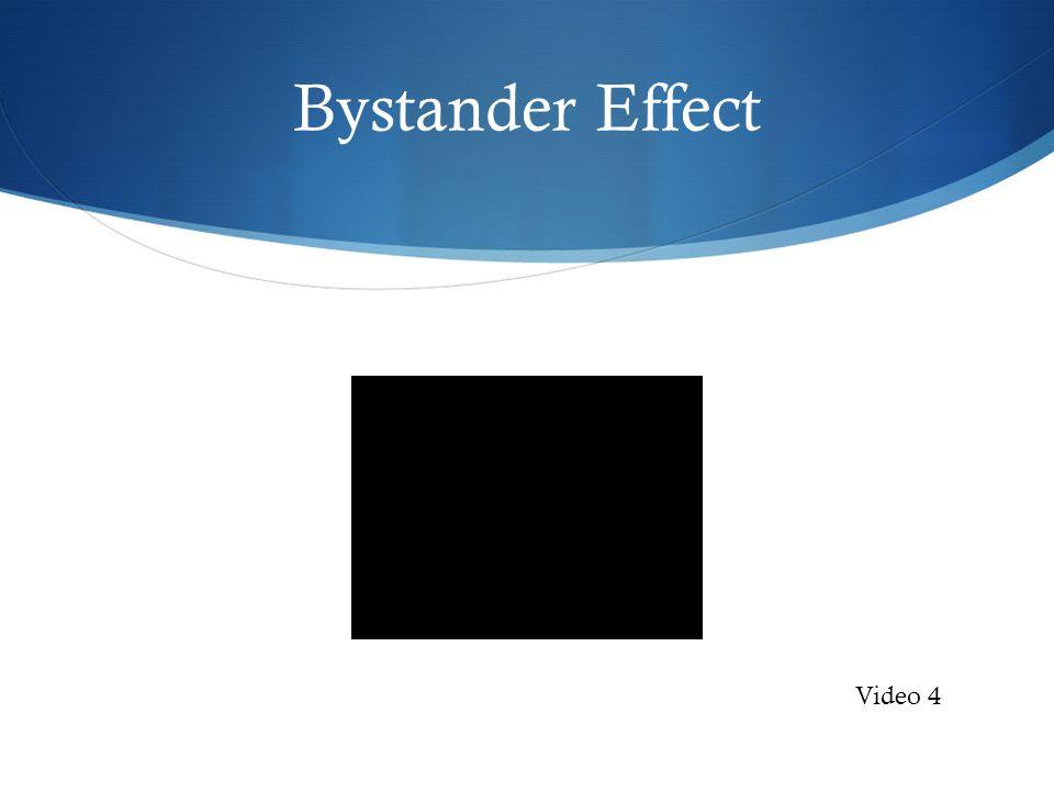 Bystander Effect Video 4