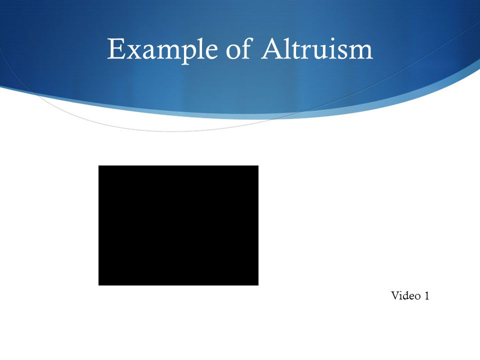 Example of Altruism Video 1