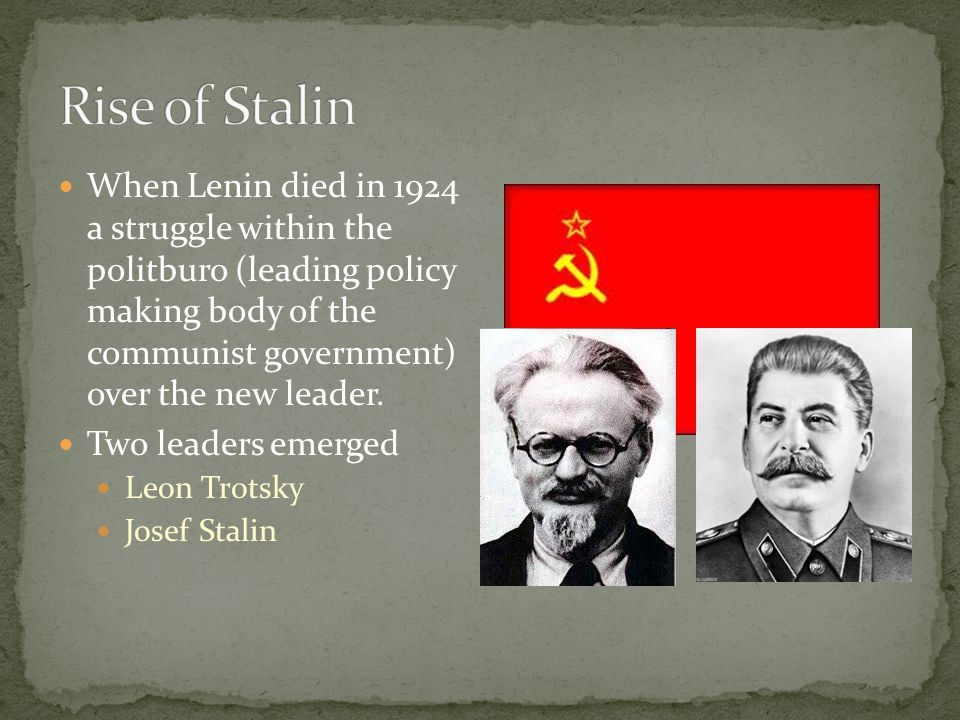 Rise of Stalin