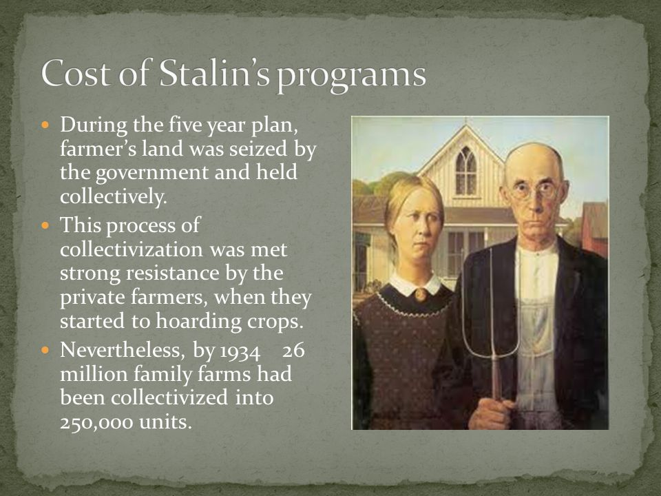 Cost of Stalin's programs