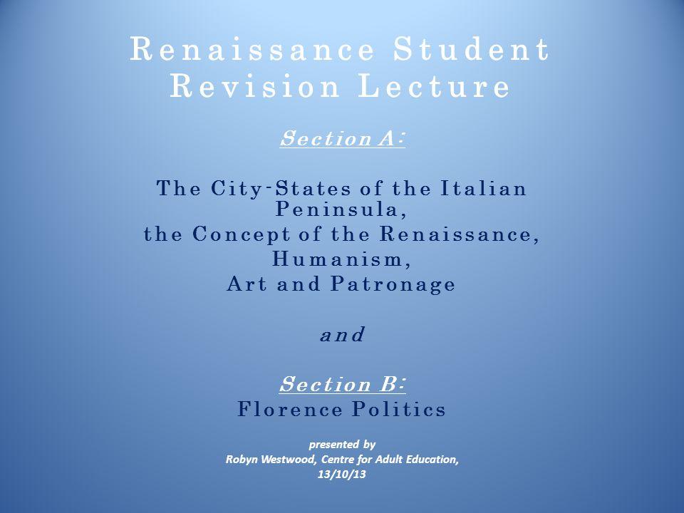 Renaissance Student Revision Lecture