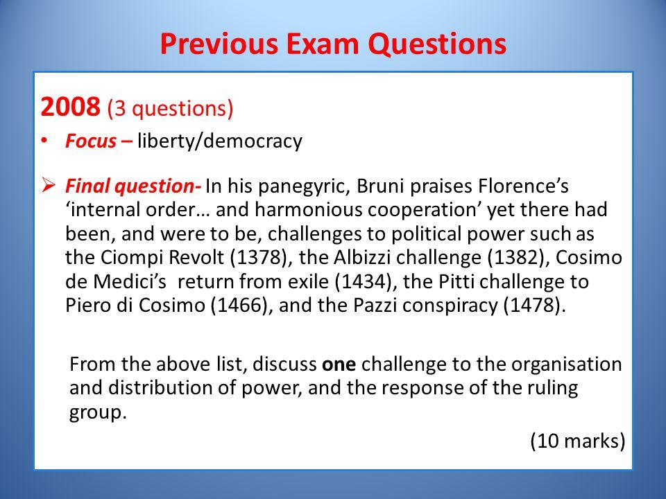 Previous Exam Questions