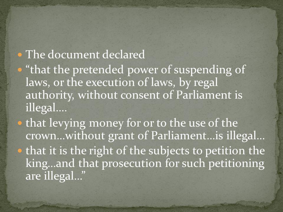 The document declared