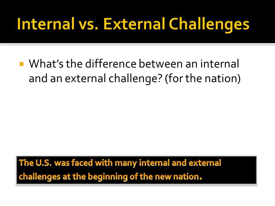 Internal vs. External Challenges