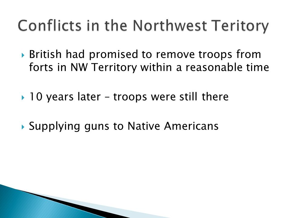 Conflicts in the Northwest Teritory