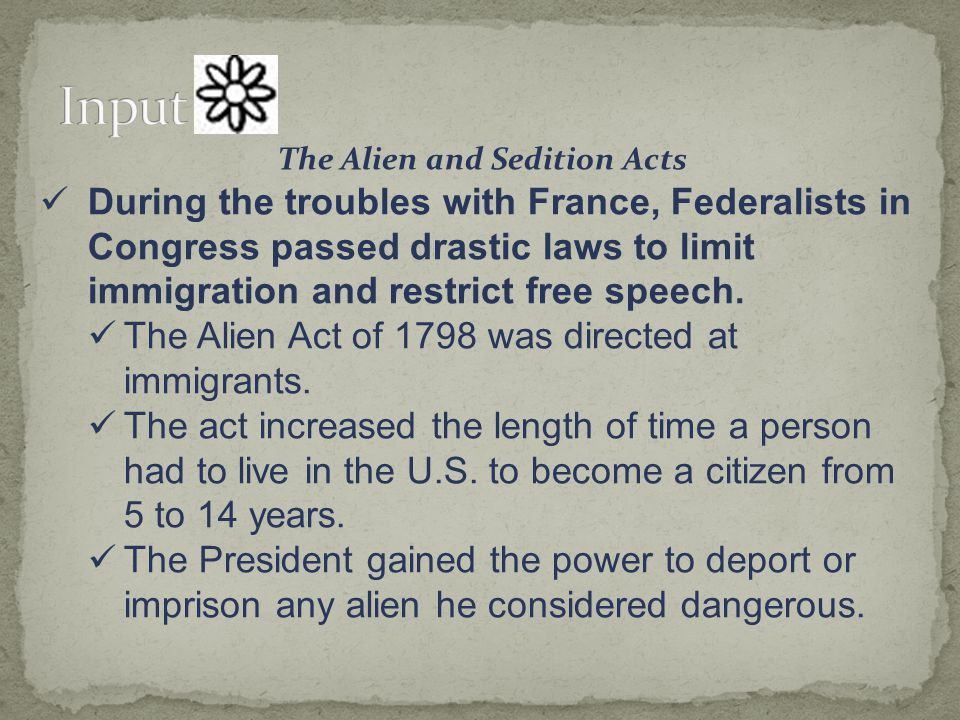 The Alien and Sedition Acts
