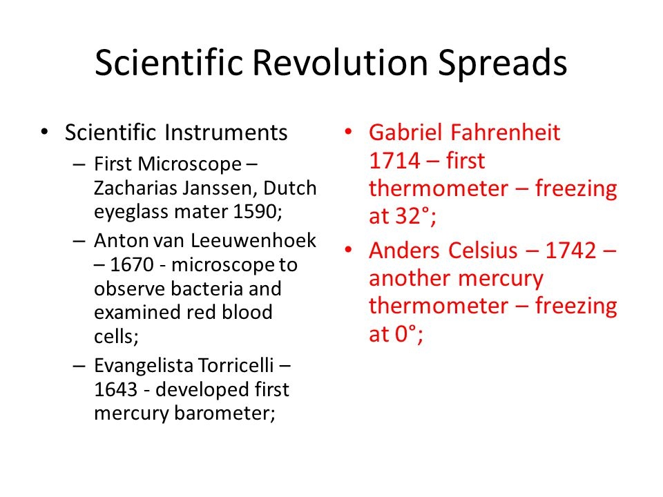 Scientific Revolution Spreads