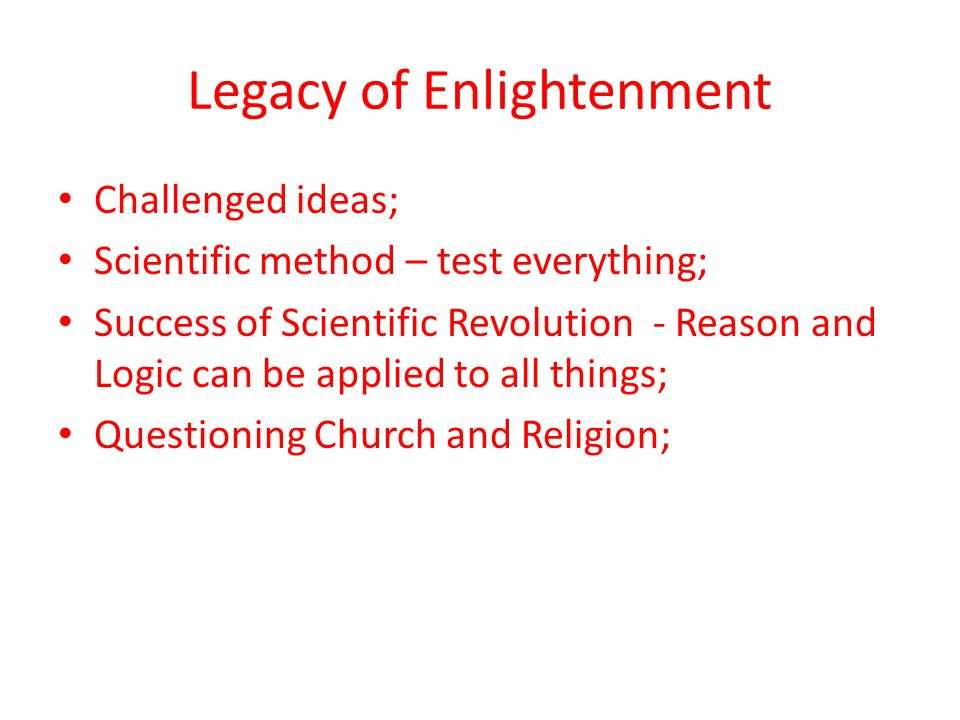 Legacy of Enlightenment