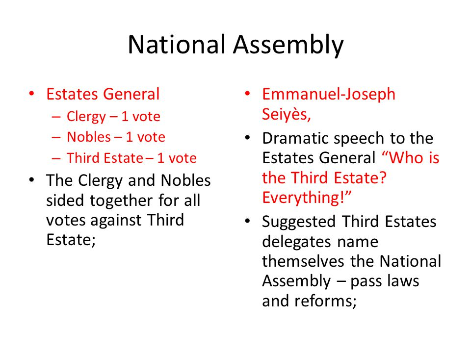 National Assembly Estates General