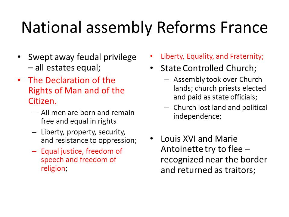 National assembly Reforms France