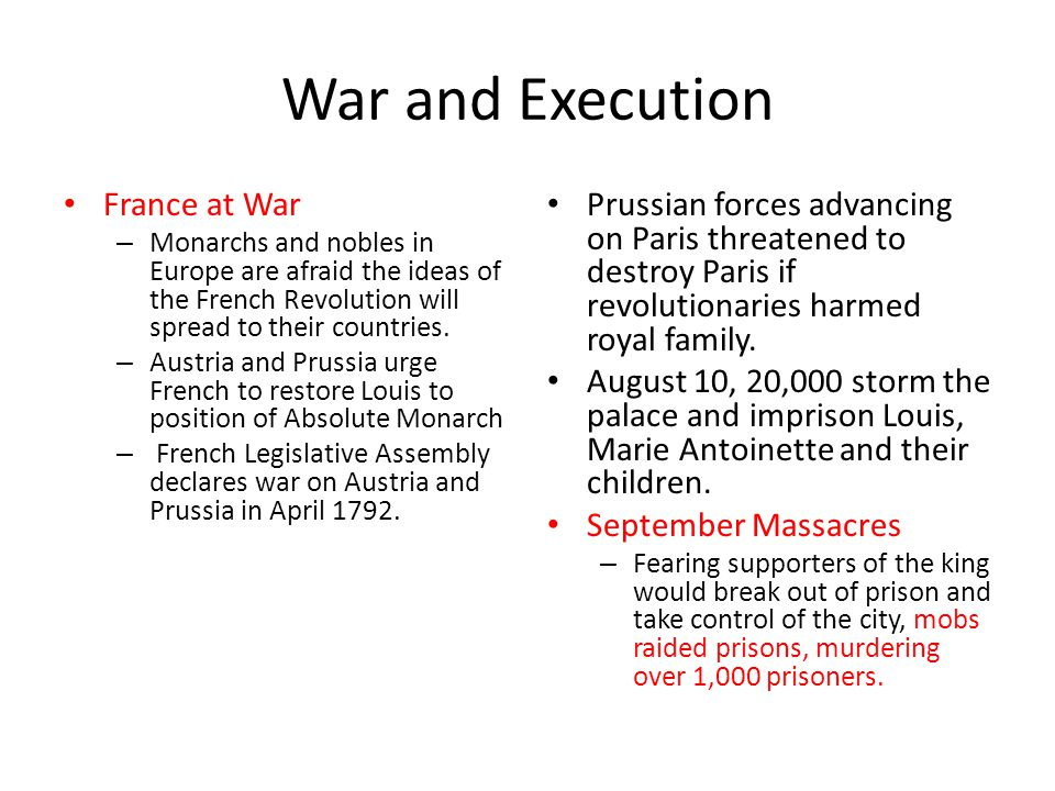 War and Execution France at War