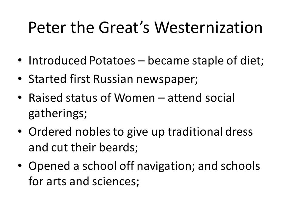 Peter the Great's Westernization