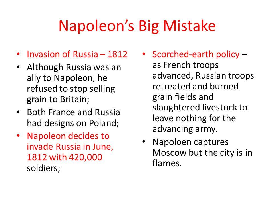 Napoleon's Big Mistake